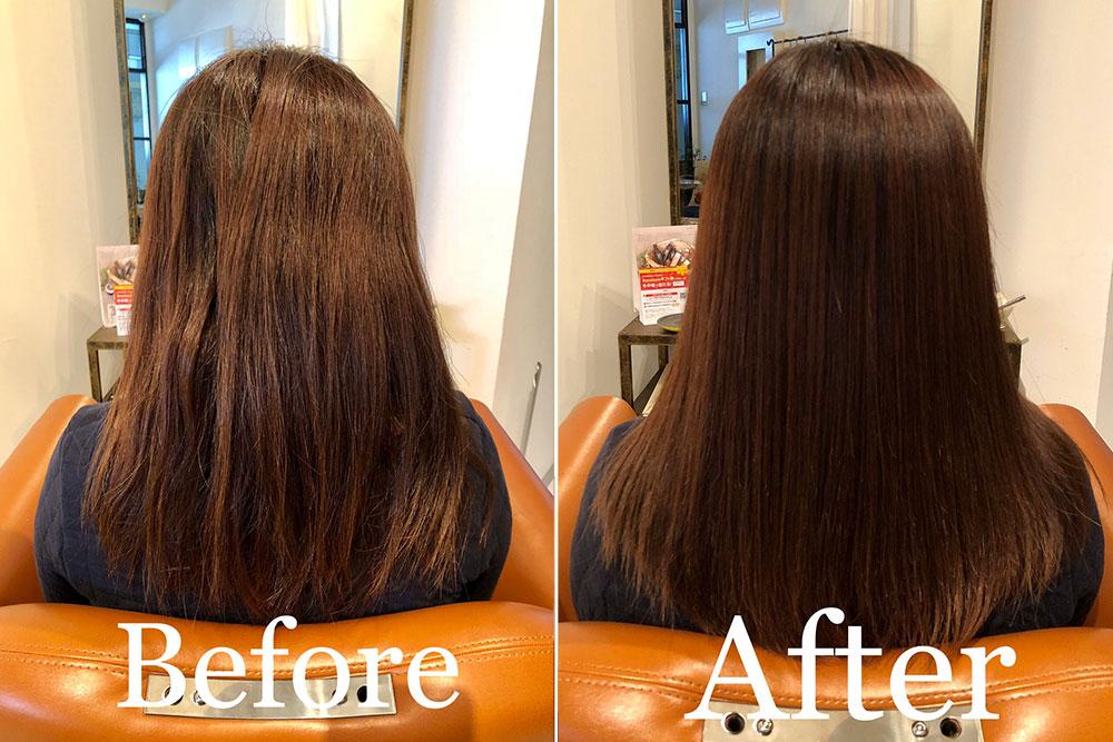 南森町の美容院(美容室)コハク 髪質改善ストレート