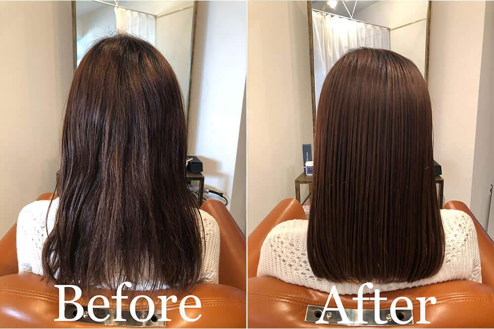 南森町の美容院(美容室)コハク 髪質改善ストレートその2